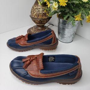 L.L.Bean Leather Low Top Duck Shoes size 6.5M